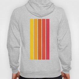 1970's Sunset Vertical Stripe Hoody