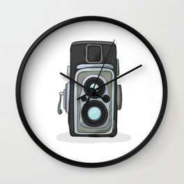Vintage camera cartoon Wall Clock
