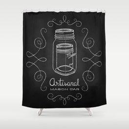 Artisanal Mason Jar Shower Curtain