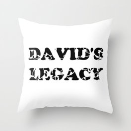 David's Legacy Scattered Leaves Throw Pillow