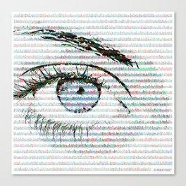 Blue eye colour variant Canvas Print