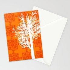 Orange Tree silhouette Stationery Cards