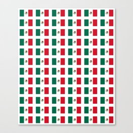 Flag of mexico 3 - mexico,mexico city,mexicano,mexicana,latine,peso,spain,Guadalajara,Monterrey Canvas Print