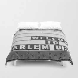 Welcome to Harlem Duvet Cover
