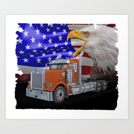 Kenworth Truck Art Print