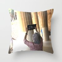 technology Throw Pillows featuring damn technology! by Gian...