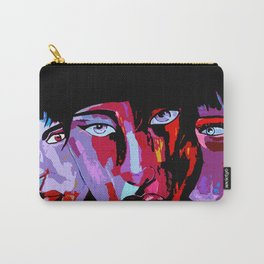 Colorful Japanese painted faces in abstract style Carry-All Pouch