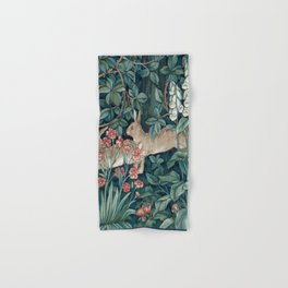 William Morris Forest Rabbits and Foxglove Hand & Bath Towel