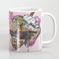 sia Mugs featuring ELECTRIC FANTA-SIA  by Vasare Nar