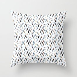 Pattern Project / Collage Drops Throw Pillow