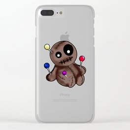 Womens Thinking About You | Voodoo Doll T-Shirt Clear iPhone Case