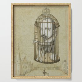 Michel Du Montaigne (1533 - 1592) An Inspirational Philosopher; Prison in the Sky Serving Tray