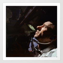Apollo 7 - Looking At The Stars Art Print