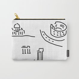 Rome kolloseum Peter's cathedral forum Carry-All Pouch