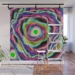 Rainbow psychedelic vortex Wall Mural