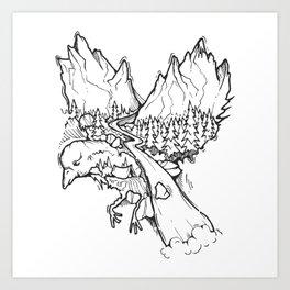 Natural Flight Art Print
