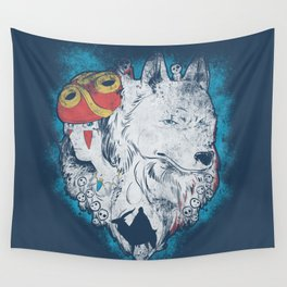 The princess and the wolf Wall Tapestry
