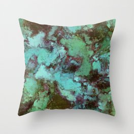 Organic decay Throw Pillow