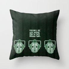 Doctor Who: Cybermen Print Throw Pillow