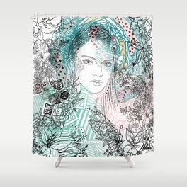 The Flying One Shower Curtain