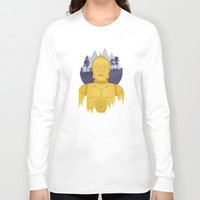 c3po Long Sleeve T-shirts featuring C3PO by Robert Scheribel