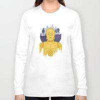 c3po Long Sleeve T-shirts featuring C3PO by Robert Scheribel