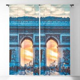France Photography - Arc De Triomphe In The Sunrise Blackout Curtain