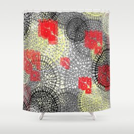 lace doilies abstract Shower Curtain