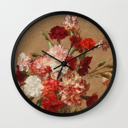 Henri Fantin Latour - Carnations Without Vase Wall Clock