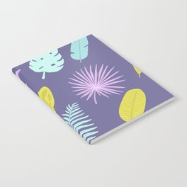 Leaves on blue Notebook