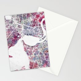 Perth map Stationery Cards