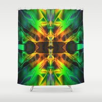 neon Shower Curtains featuring Neon by Assiyam