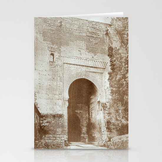 The Alhambra. Puerta de la Justicia Stationery Cards