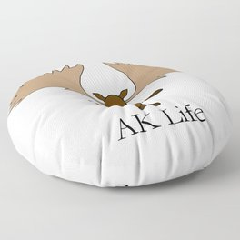 AK Life Moose Floor Pillow