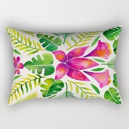 Tropical Symmetry – Pink & Green Rectangular Pillow