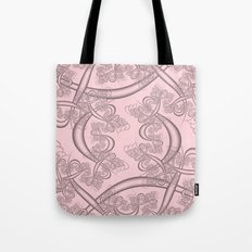 Blushing Bride Fractal Tote Bag