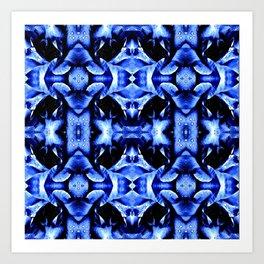 Blue Black  Fantasy Pattern Art Print