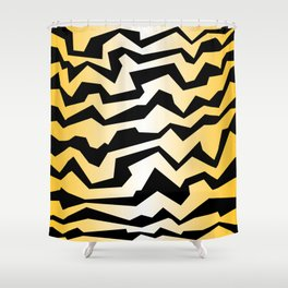 Polynoise tiger Shower Curtain