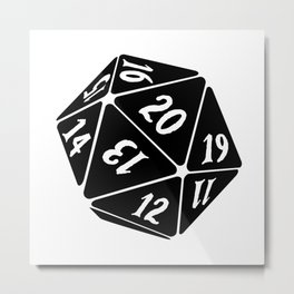 20 Sided Spindown die Metal Print