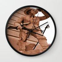 battlefield Wall Clocks featuring Battlefield by Photaugraffiti