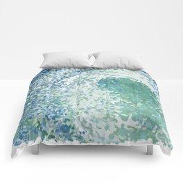 Amazonite Waves Surf Juul art Comforters
