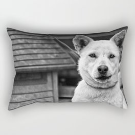 Crooked Smirk Rectangular Pillow