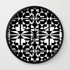 Black and White Tile 5/4/2013 Wall Clock