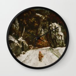 """Gustave Courbet """"Winter in the Jura"""" Wall Clock"""