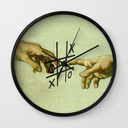 Adam and God on the Game Wall Clock