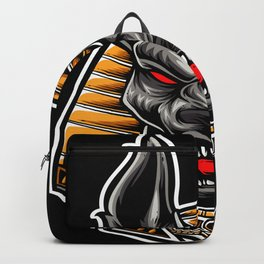 Egyptian God Anubis Face Backpack