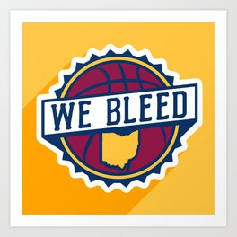 We Bleed Wine and Gold Art Print