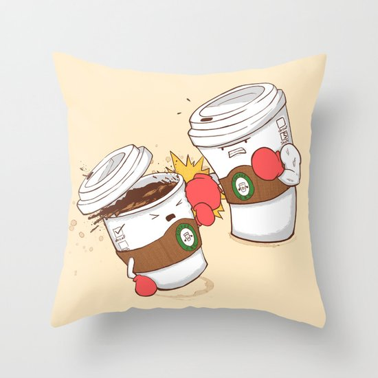 Strong Coffee Throw Pillow