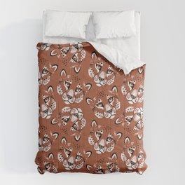Summer Cheetah Portrait Pattern - Rust Brown Comforters