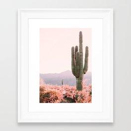 Vintage Cactus Framed Art Print